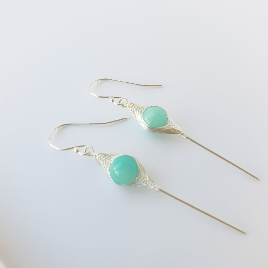 Nayana Star Stick Earrings / Amazonite