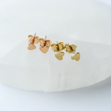 Baby Heart Earstuds / 14k Gold-filled