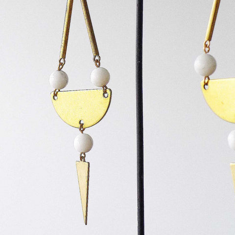 Dina Earrings (White)