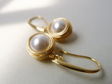 Trudi Earrings / Nested Pearl Drop