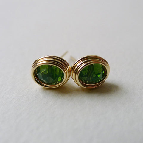 Imperial Green Crystal Earstuds
