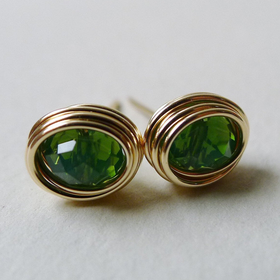Crystal Imperial Green Earstuds