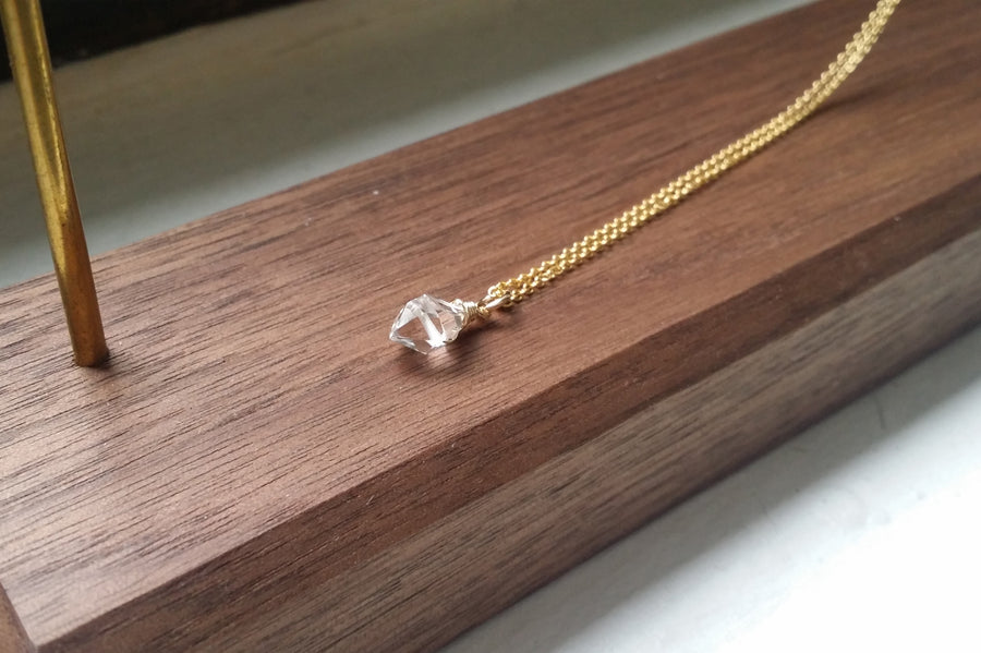 Herkimer Diamond Quartz Necklace