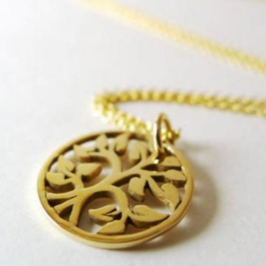 Round Tree-of-Life Charm Necklace