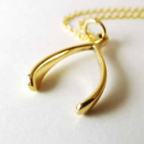 Medium Wishbone Necklace / Natural Bronze