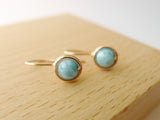 Larimar Drop Earrings / Regular Size