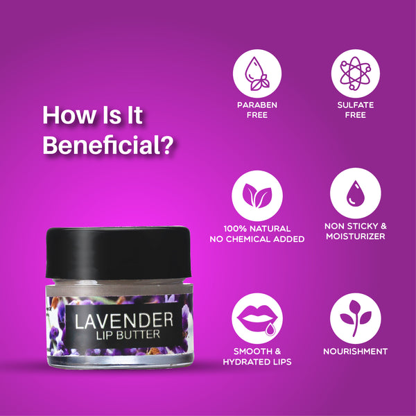 100% natural lavender lip balm