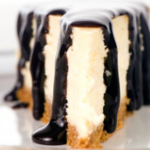 Cheesecake with Chocolate Sauce