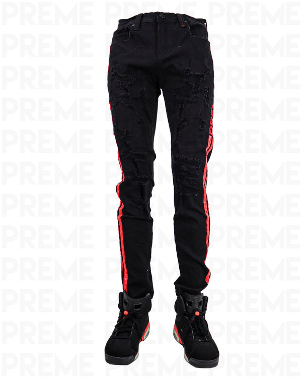 Affinity Infrared Striped Black Jean