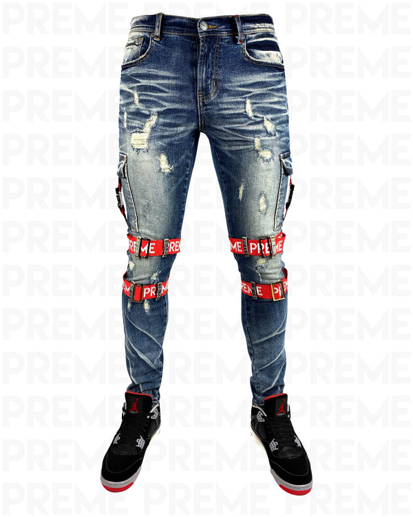 Contractor Red Strapped Indigo Jean
