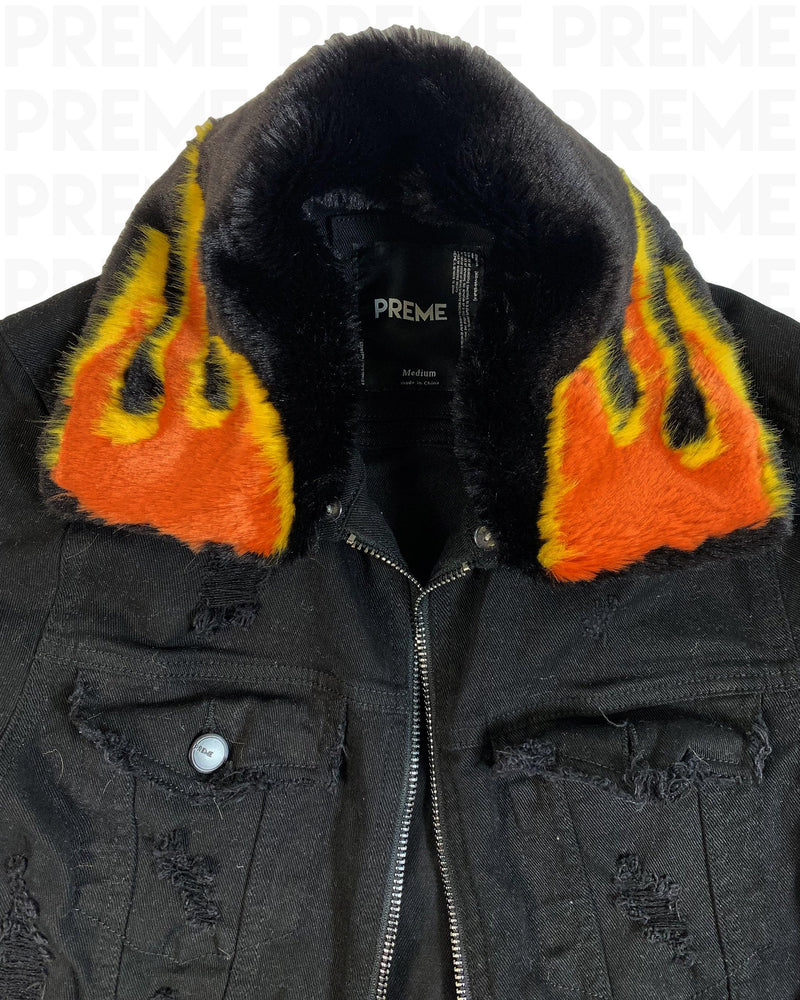 Inferno Black Denim Jacket