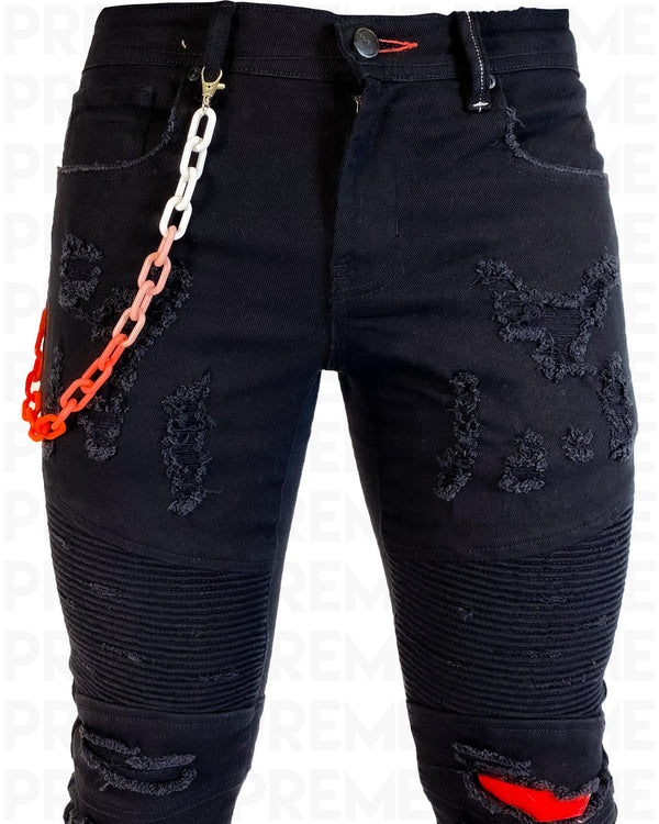 Links Black Denim Jean - PREME USA