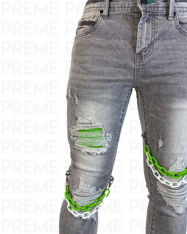 Links Grey Denim Jean - PREME USA