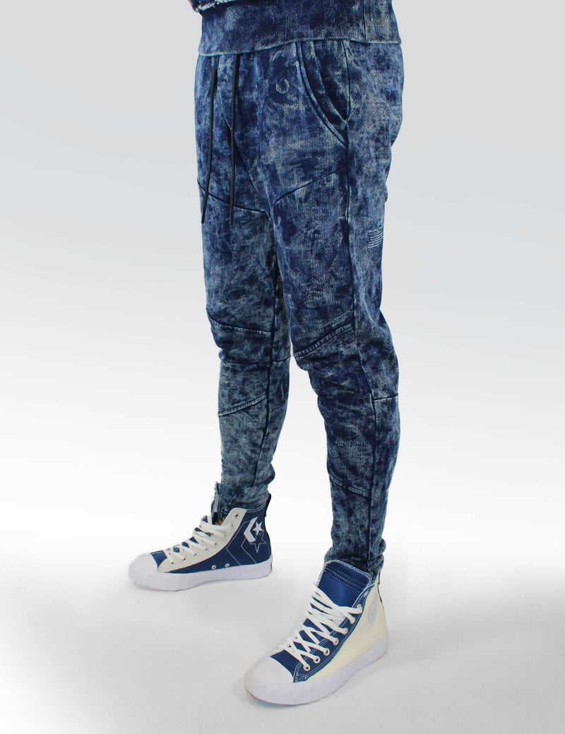 Andreas Indigo Tie Dye sweat pants