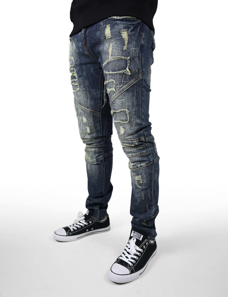 Wellington Denim(ripped and distressed)
