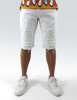 Eldredge Moto Short (white) - PREME USA