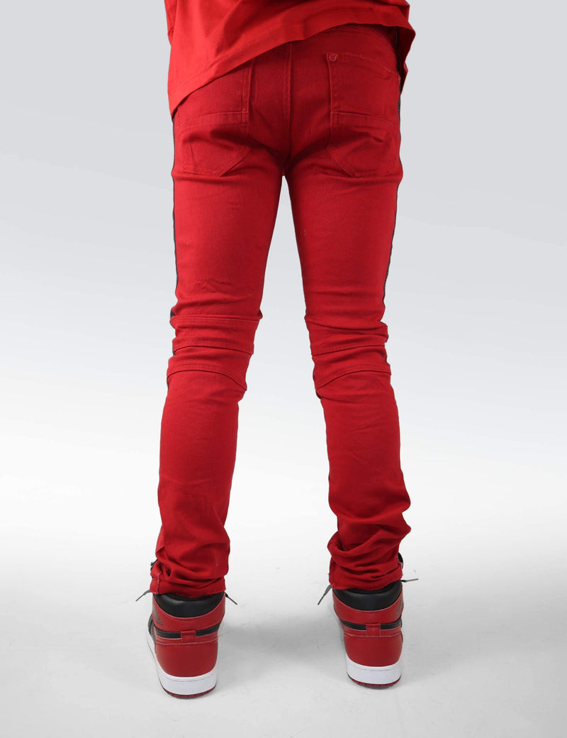 Eldredge Fury red striped denim