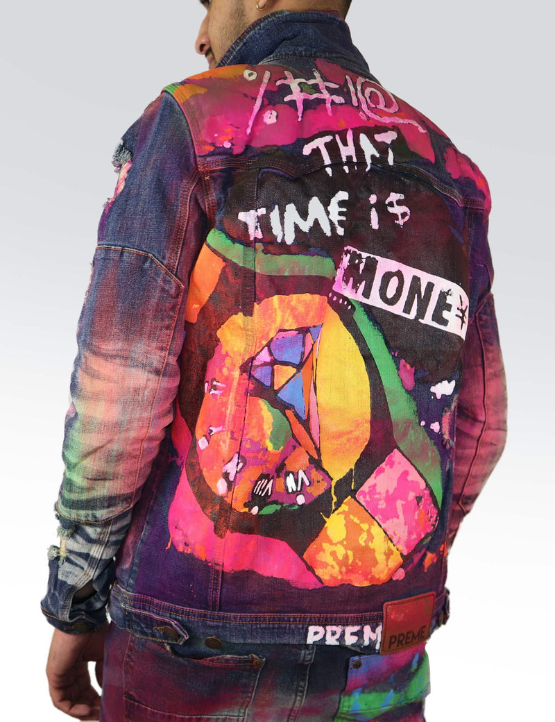 Time is Money Printed jacket - PREME USA