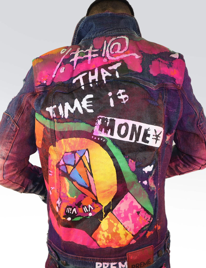 Time is Money Printed jacket