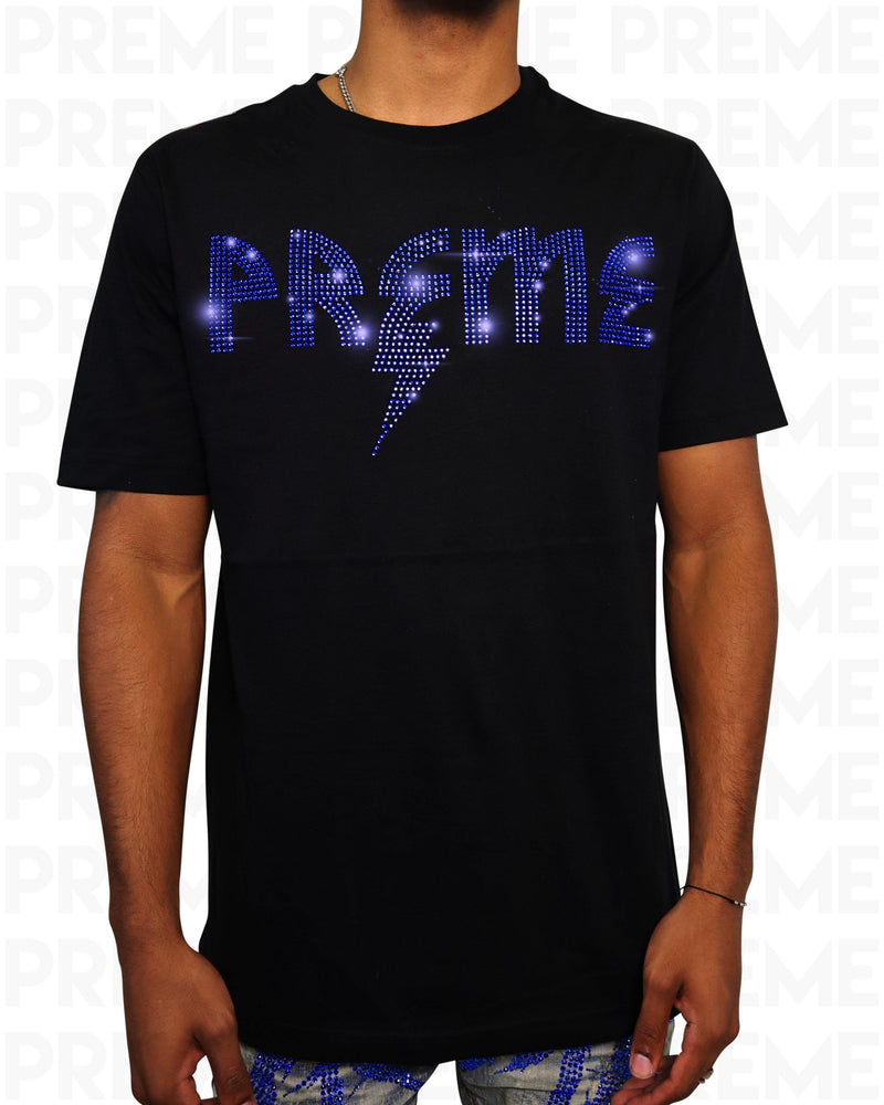 Preme Thunder Stoned Black/Blue T-Shirt
