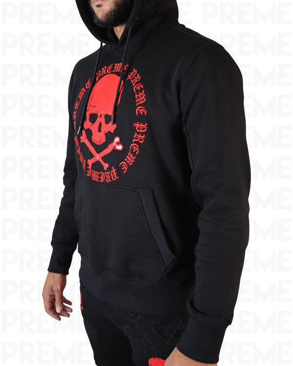 Poison Black/Red Hoodie