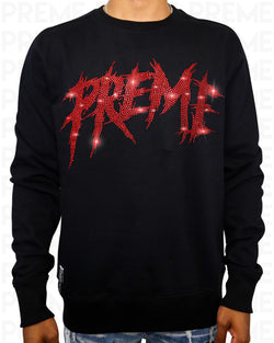 Preme Stoned Black/Red Crewneck