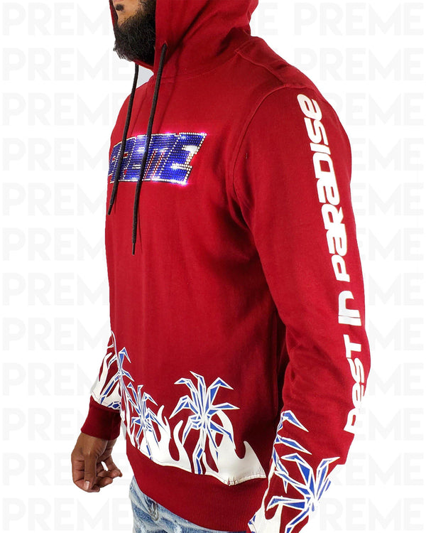 Rest In Paradise Red Hoodie