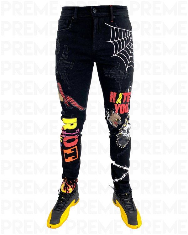 Riot Squad Black Denim Jean