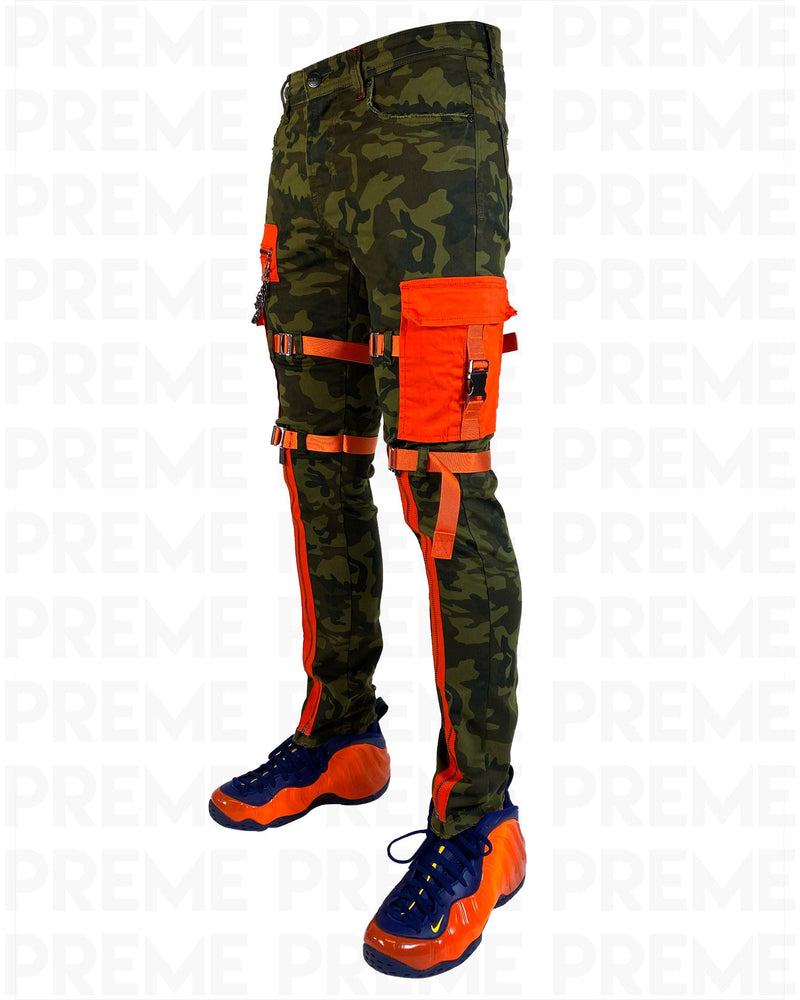 The Traveler Green Camo Twill Cargo Pant