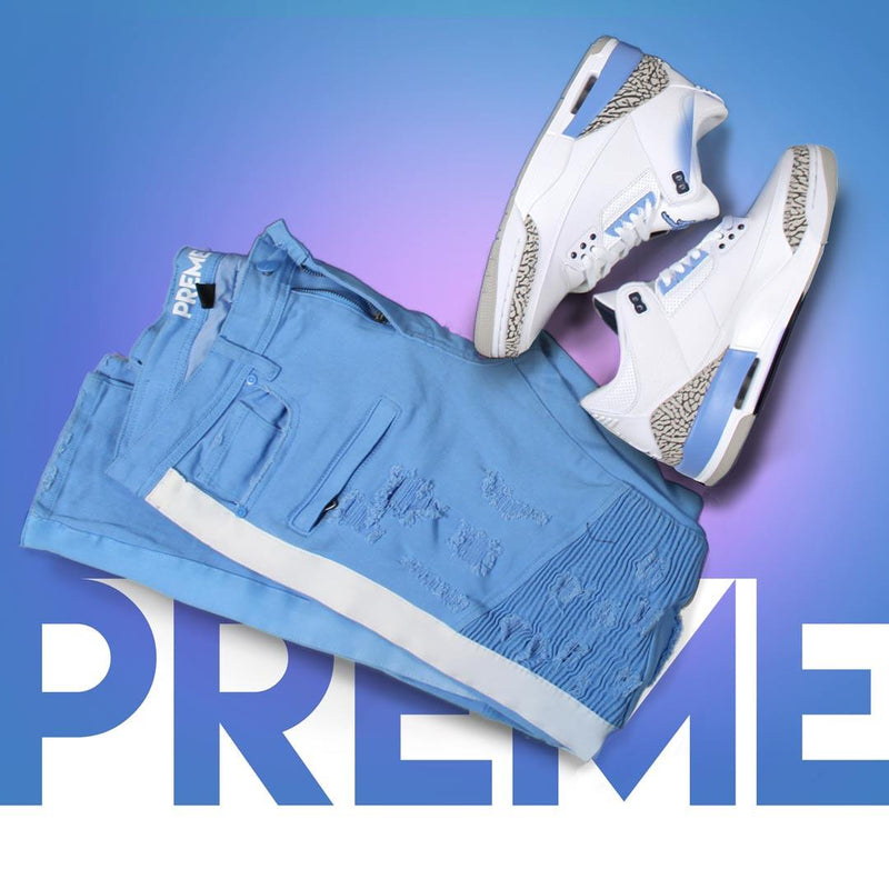 ELDREDGE VAPOR BLUE/WHITE STRIPED DENIM - PREME USA