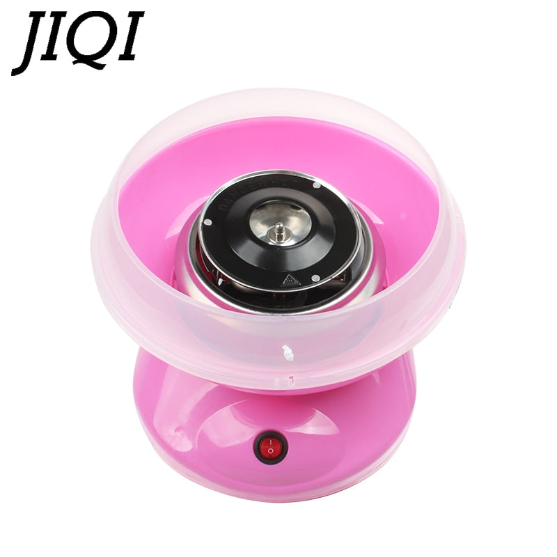 JIQI 110V/220V MINI Electric DIY Sweet Cotton Candy Maker Portable Marshmallow Candy Fairy Floss Spun Sugar Machine EU US Plug