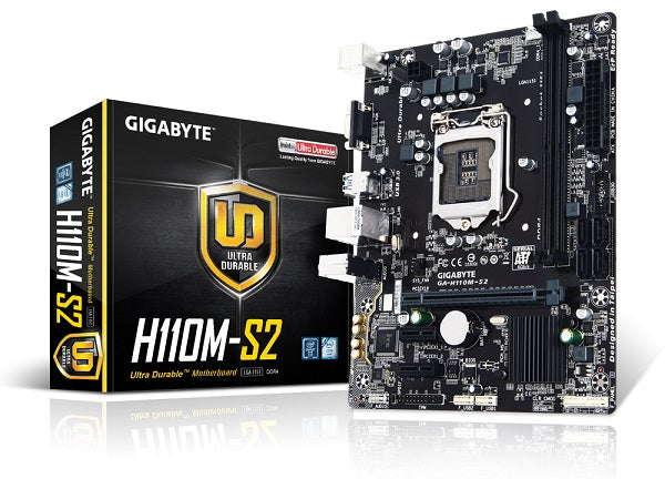 Gigabyte GA H110M S2 M-ATX DDR4 Double Channels SSD 32G USB3.0 STAT3.0 New Can support i7 7700K cpu LGA 1151