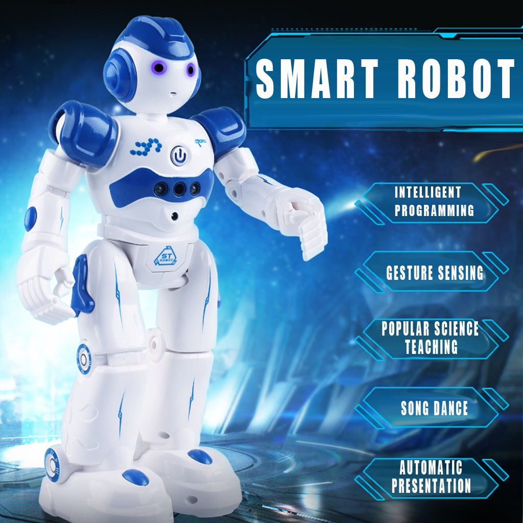 Intelligent Robot Multi-function Charging Children's Toy Dancing Remote Control Gesture Sensor Toy Gift for children Control#E30