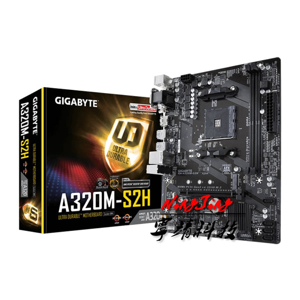 Gigabyte GA A320M S2H M-ATX DDR4 M.2 USB3.1 STAT3.0 SSD New 32G Double Channel support R9 3900X Socket AM4 Motherboard