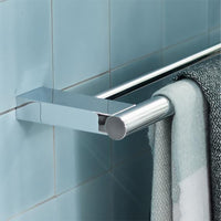 System 2 3561 001 80 Double Bathtowel Holder 800 mm in Chrome