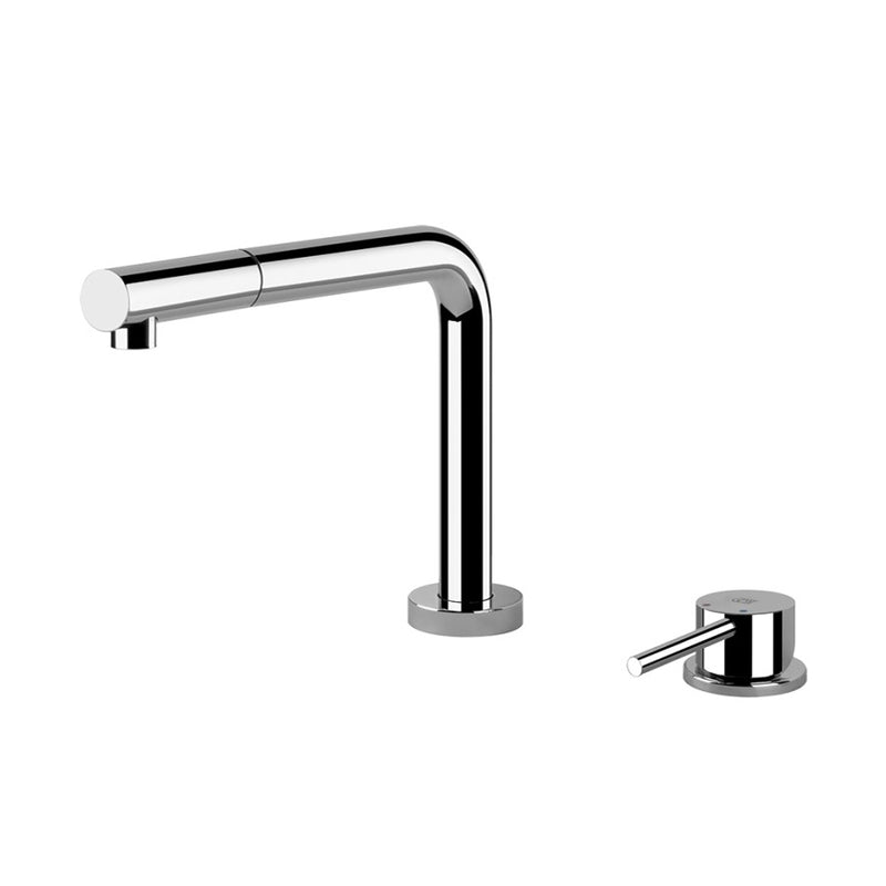 Gessi 50109.031 sink mixer with remote control, retractible spout and pull out single jet