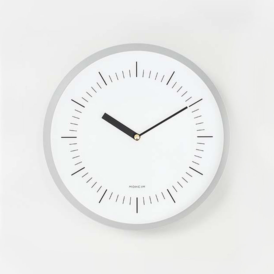 Horn Wall Clock in Gray