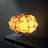 Egg Table Lamp in Topaz in Yellow