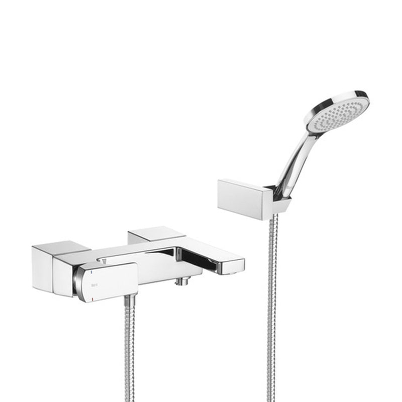 L90 5a0101c00 Wall-Mounted Bath Mixer in Chrome with Shower