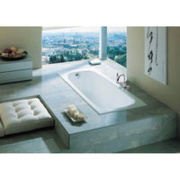 Roca  A212914001 Continental enameled cast iron non apron bathtub with bottom slip resistance surface,  size: 1400 x 700 mm  color: white