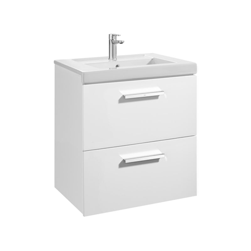 Prisma 855951806 Base unit 600 x 460 mm in gloss white with two drawers 856881806 and basin 327546