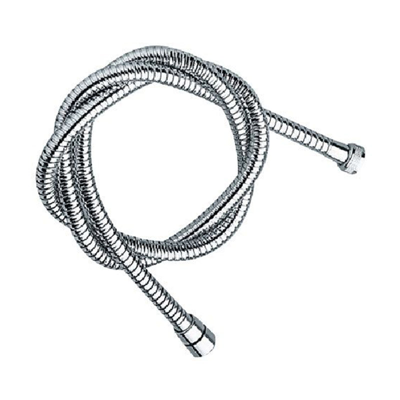 "Remer  333CNX150X shower hose, internal in EPDM rubber, one conical nut, 1/2"" length 150cm  finish: stainless steel"