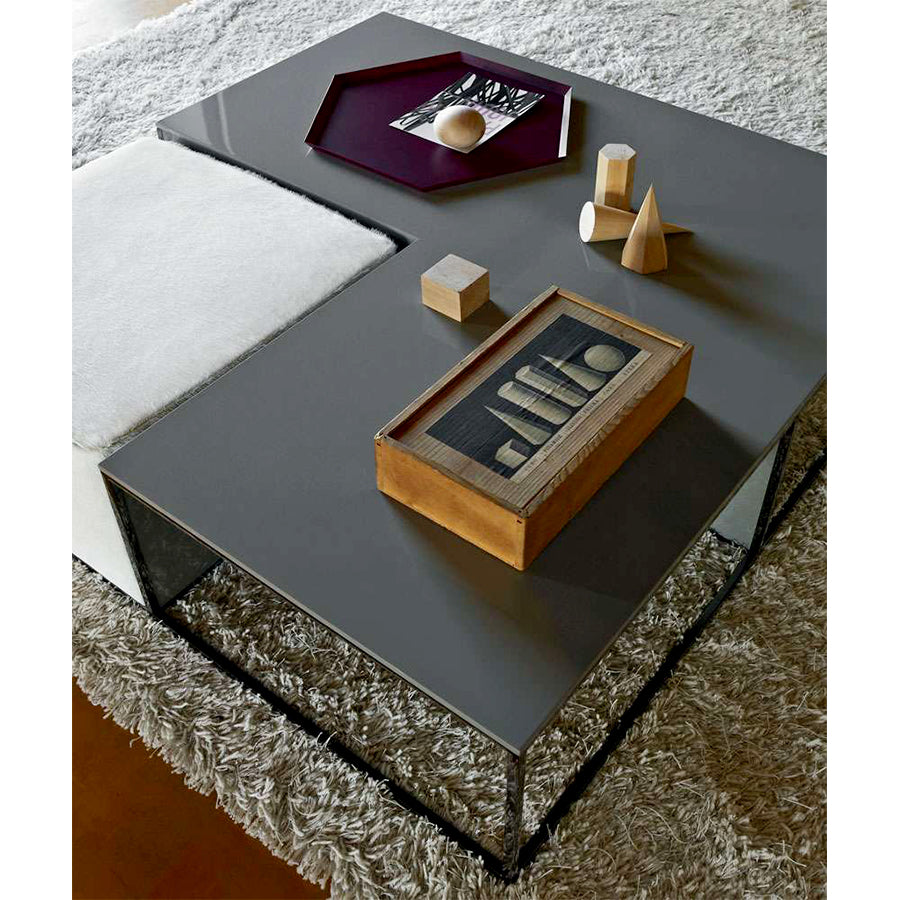 Area AR108T_CN Small Table in 1340L Steel Grey Glossy