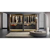 Backstage W3400 x D1821 Walk-in Closet with external finish in 3750G coffee shellac lacquer