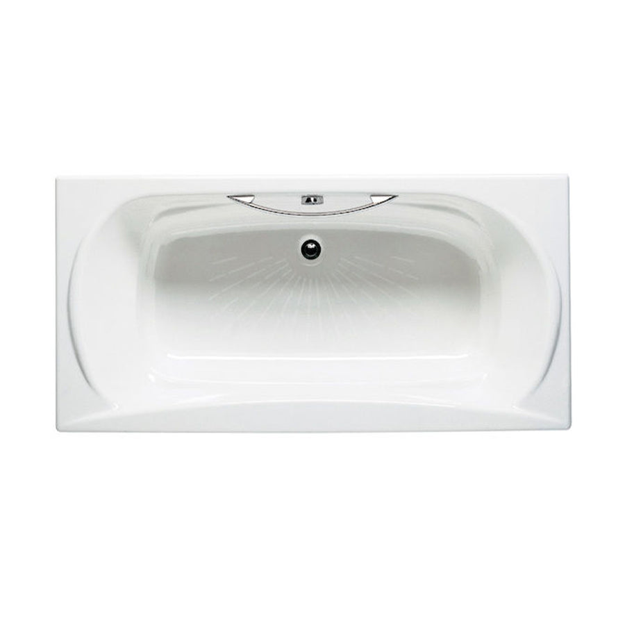 'Roca'  2-32570 Akira Bathtub Without Feet, Made with Integral Headrest & Armrests, One Piece Of C.P. Brass Handgrip and Anti-Slip Base  Size: 1700 X 850 mm   Color: White (Wt)