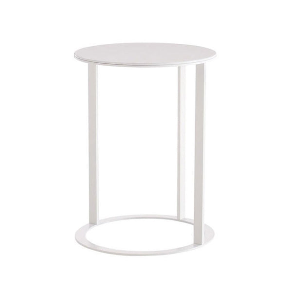 Frank Small Table In Chalk White Painted