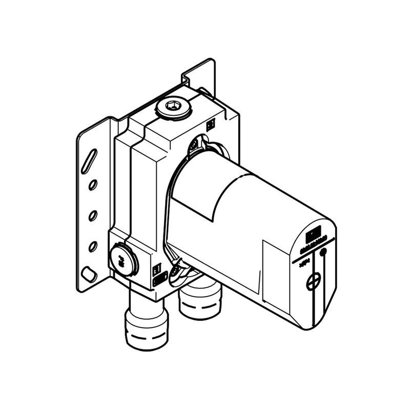 35.021.970.90 Concealed Part for Single-Lever Mixer with Backflow Preventor