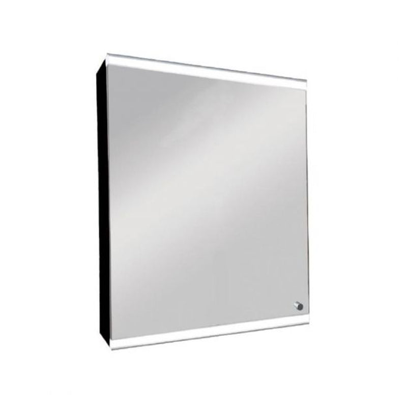 LIRRHV5070B single door cabinet with white LED light  size: 500 x 700 x 155 mm  color: black