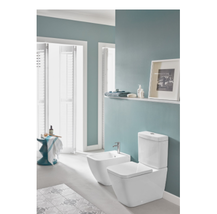 Villeroy & Boch Venticello 5707.A1.01 cistern in white w.mec. DualFlush water-saving button, chrome