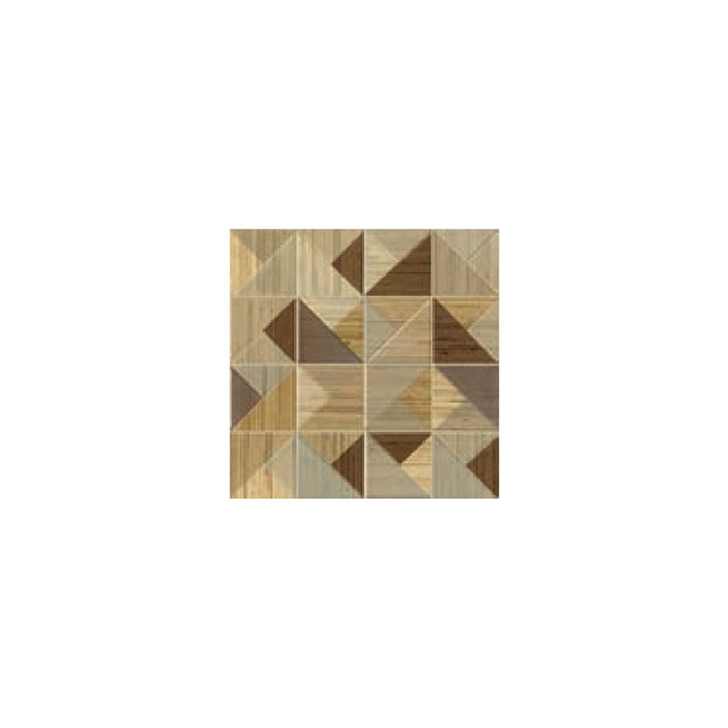 Woodlines Mosaico Decoro 29 X 29 cm in Brown